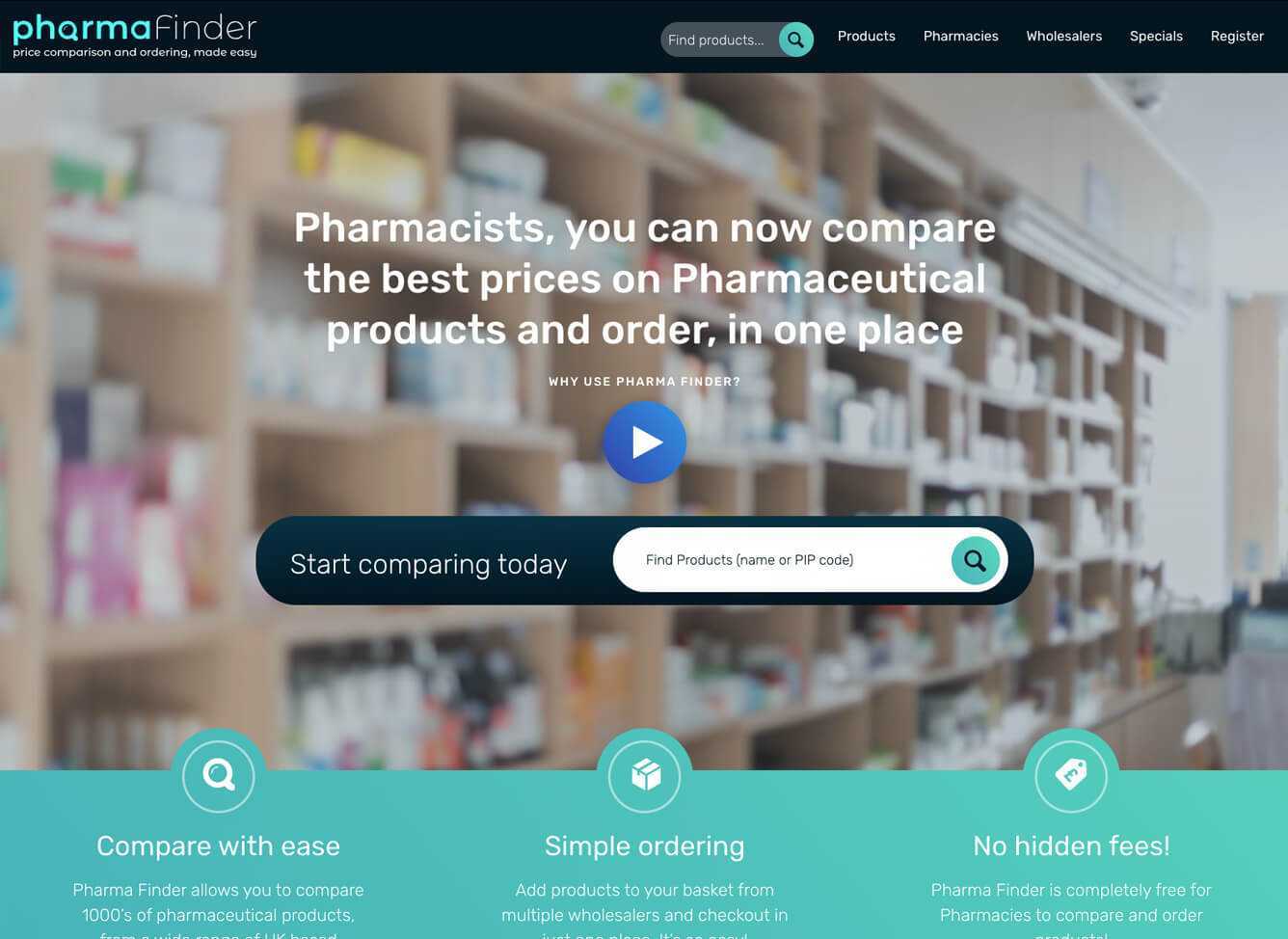 pharmafinder comparison website